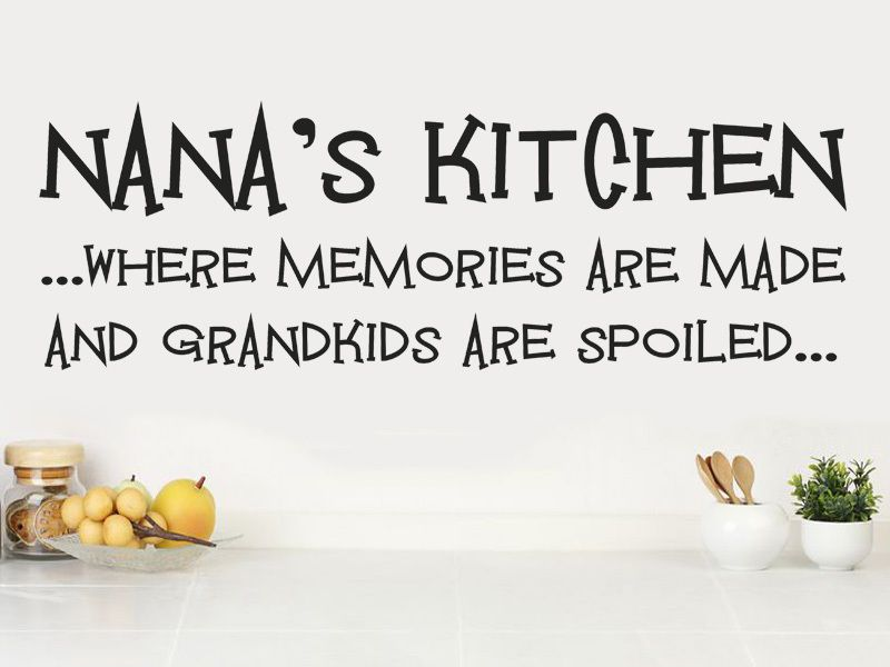 Nana s Kitchen - Wall Art Sticker Vinyl Transfer Modern Wall Decal